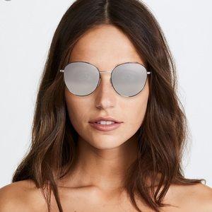 Elizabeth & James oval sunglasses stone neck strap